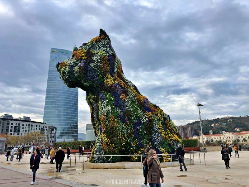 Puppy statua cucciolo Guggenheim Bilbao