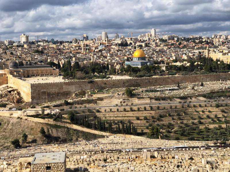 Gerusalemme panorama da monte ulivi