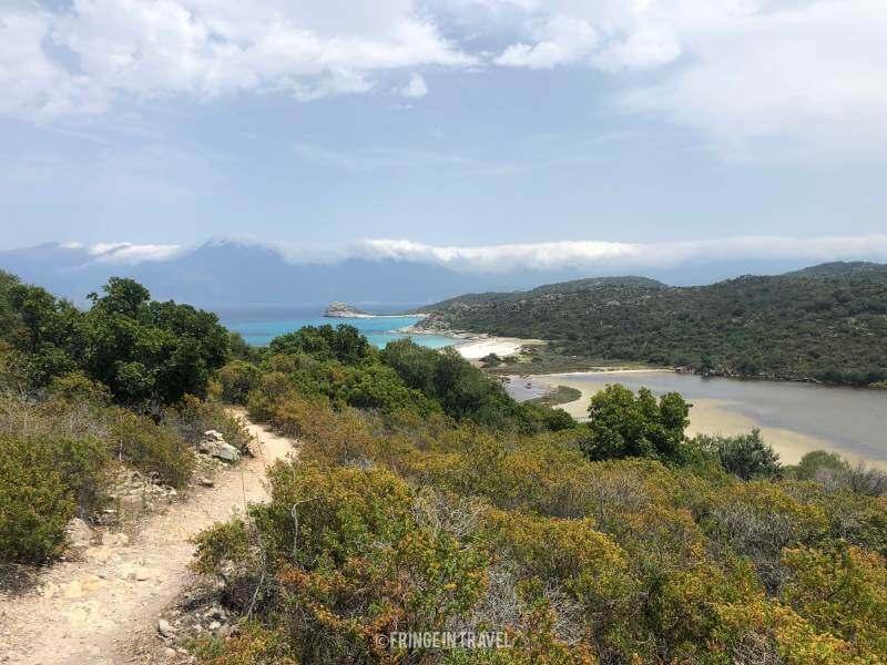 lotu dall alto dal sentiero da saleccia corsica9