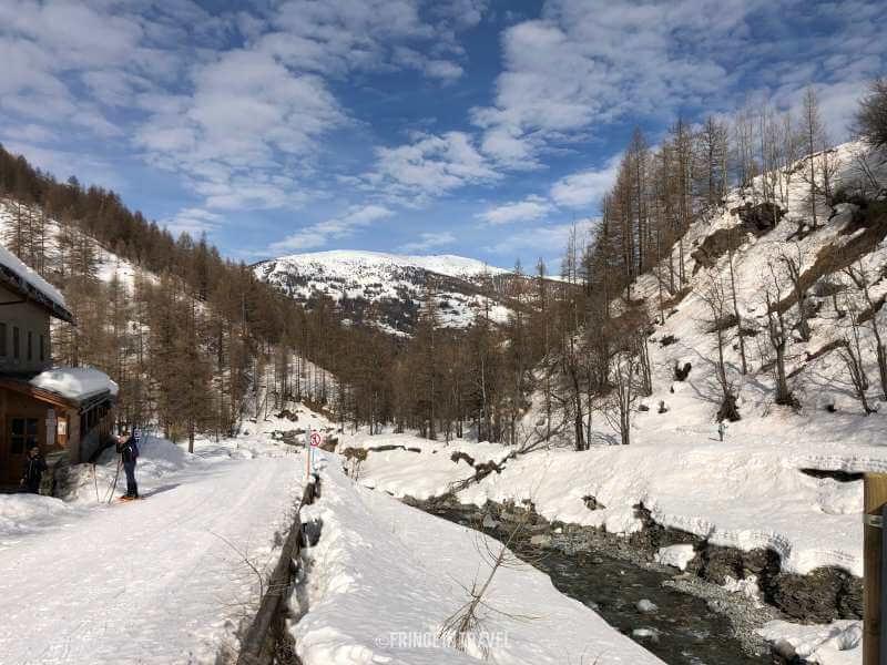 Pista da sci di fondo Val Troncea