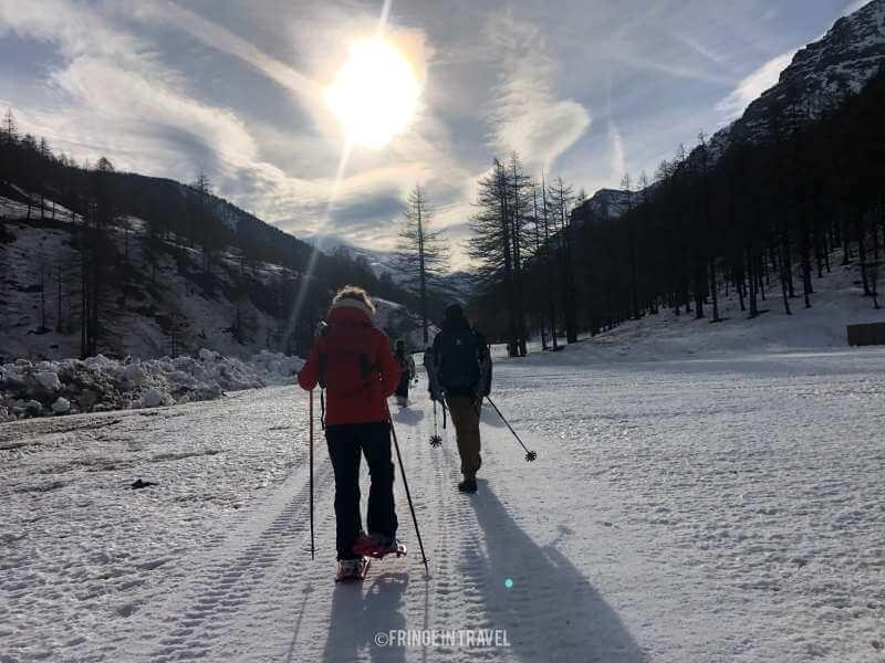 neve ghiacciata Val Troncea