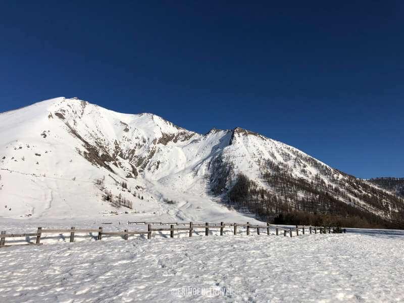 parco orsiera rocciavre piemonte paesaggio con neve