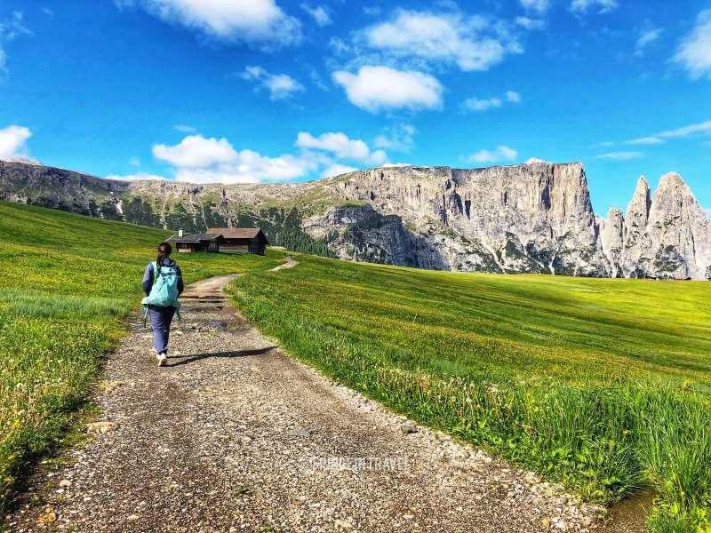 Altopiano Sciliar escursionista Alpe Siusi