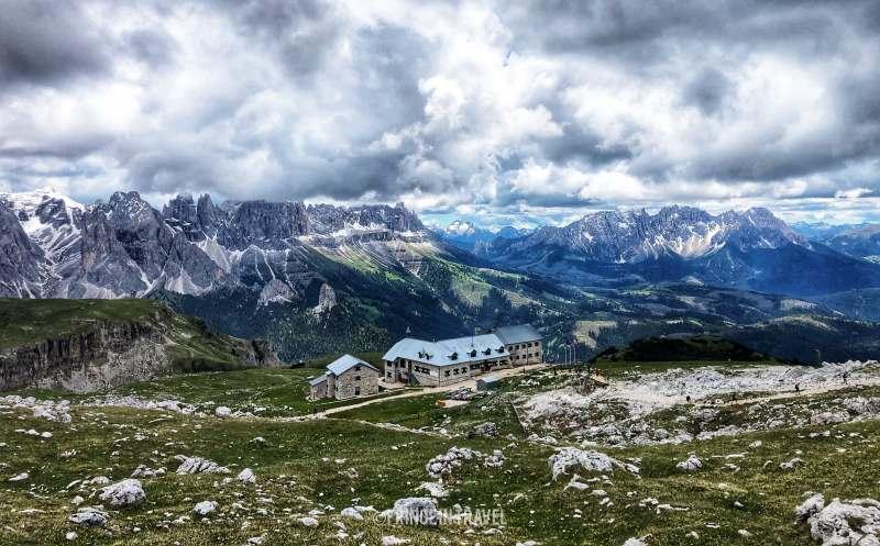 Rifugio Bolzano dal Monte Pez Alpe Siusi