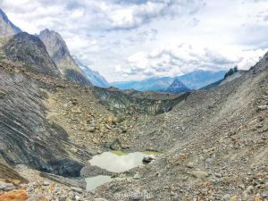 Lago Miage Val Veny Aosta panorama