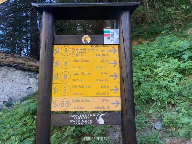 Col Entrelor Valle aosta 34 segnaletica