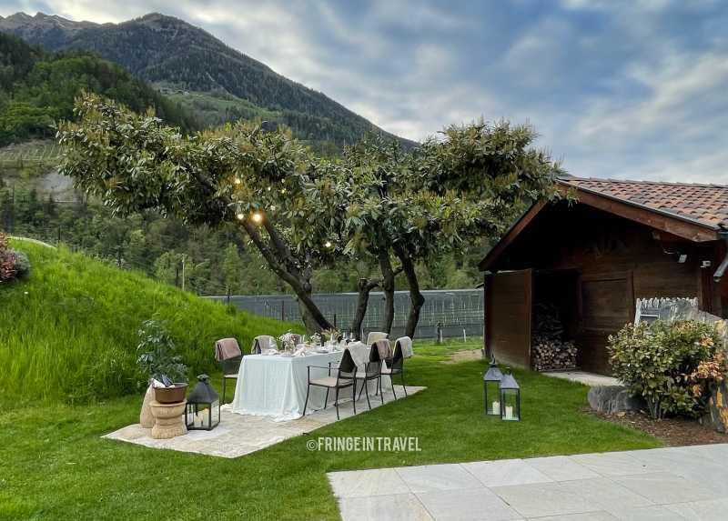 Val Passiria Cena romantica Hotel Della mela